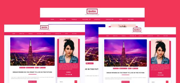 Sara Log Free WordPress Theme